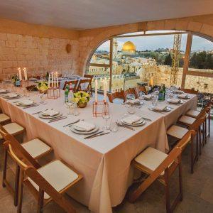 ארוחת ערב מול הכותל בירושלים