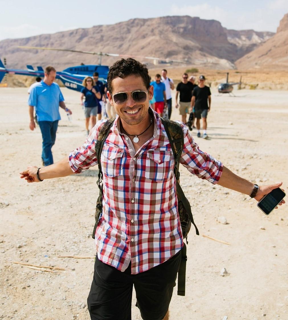 ארז לנדאו מורה דרך עם ניסיון של מעל 15 שנים בעולם התיירות, מפיק חוויות מיוחדות